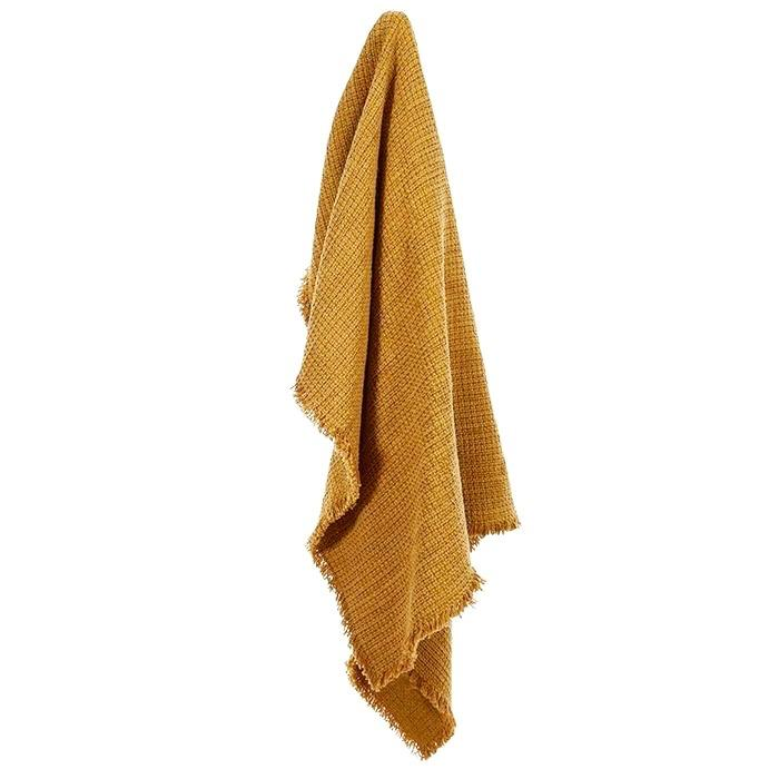 Boho Cotton Throw - Dijon Mustard