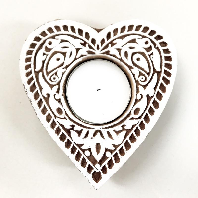 Hamsa or Heart Tealight