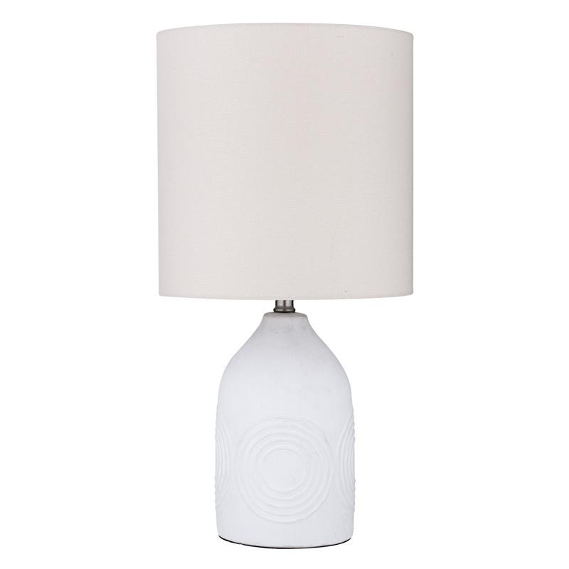Circle White Table Lamp - Janggalay