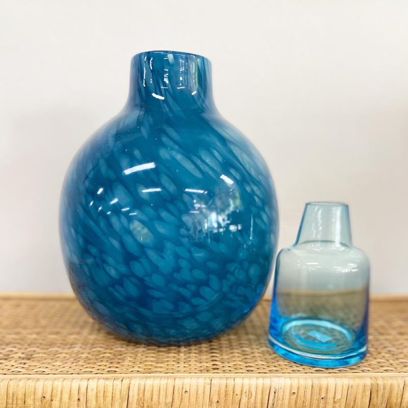 Denim Blue Glass Vase