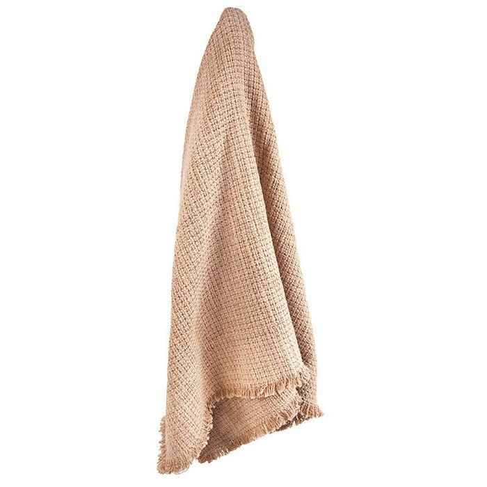 Boho Cotton Throw - Nude - Janggalay