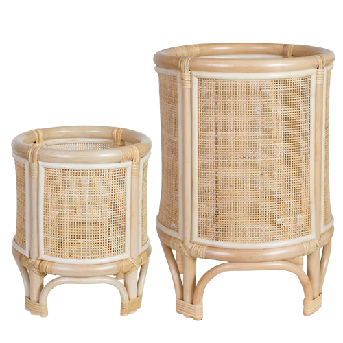 Tropical Rattan Cane Planter