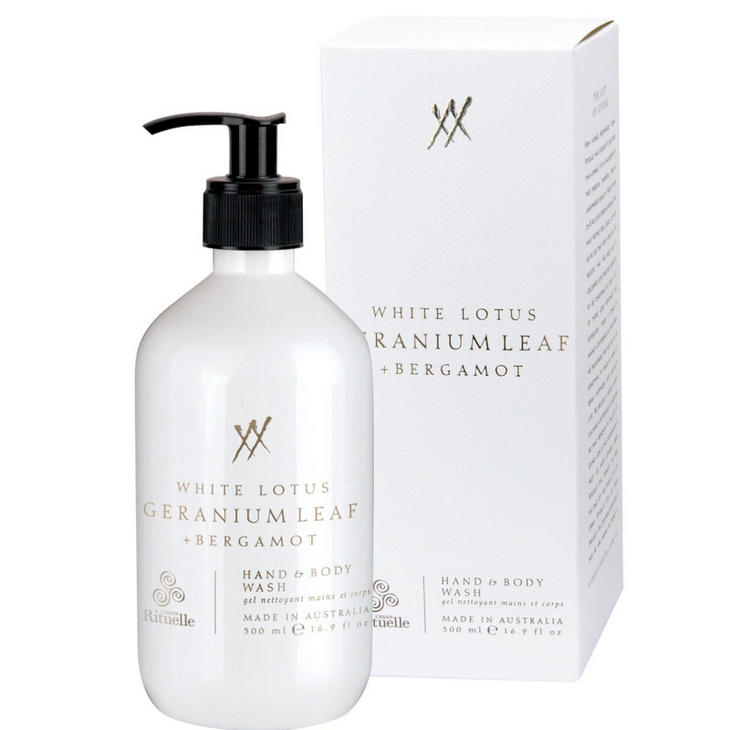 White Lotus, Geranium Leaf & Bergamot Hand & Body Wash