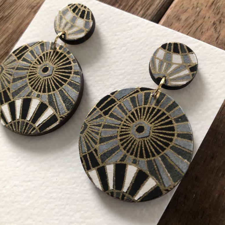 Handmade Japanese Paper Drop earrings