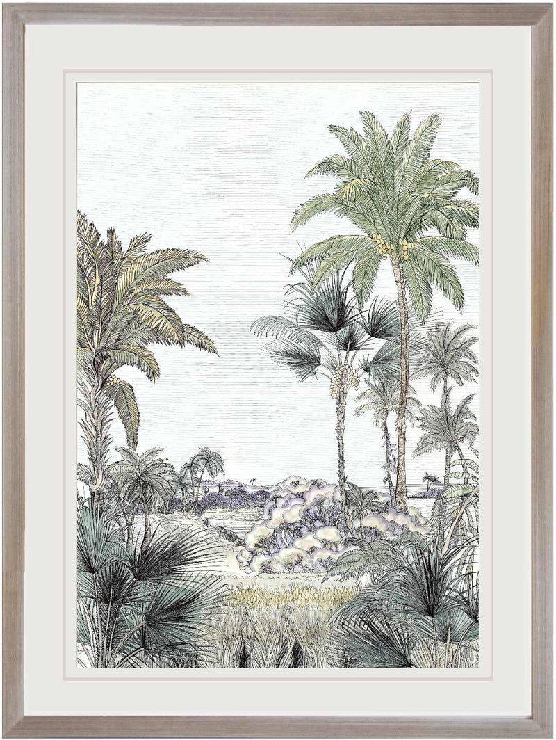 Tropical Artwork Line Drawing