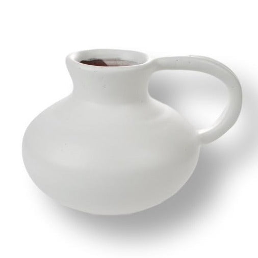 Matt White Squat Jug Vase