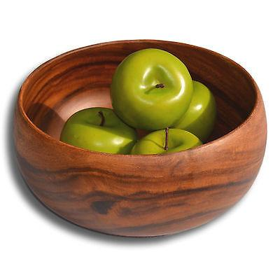 Acacia Wood Large Bowl Salad Fruit Entertaining Serving 25cm Solid Piece of Wood-Janggalay
