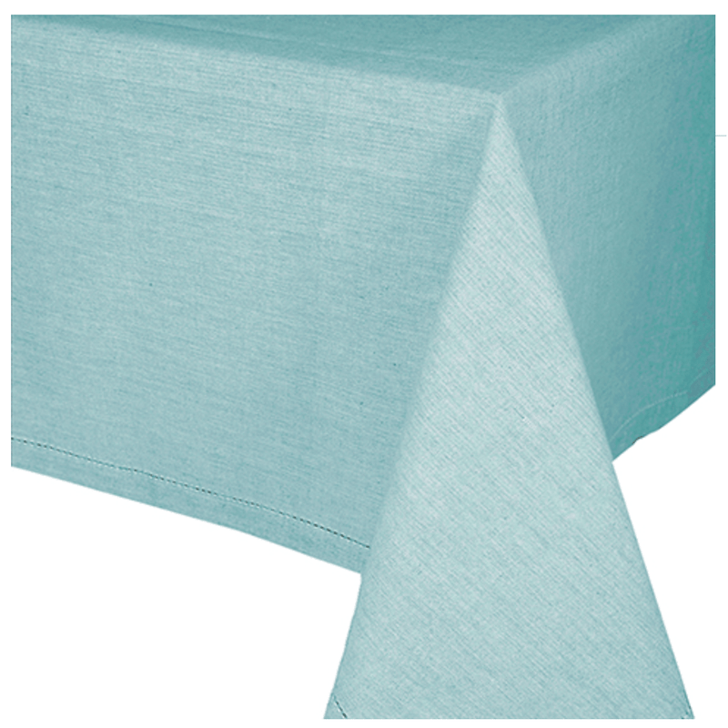 Aqua Cotton Tablecloth 150cm x 230cm-Janggalay