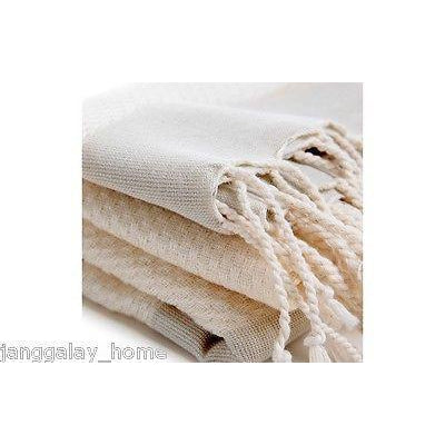 Turkish Towel Peshtemal - 2 Grey Stripe on Natural Bamboo-Janggalay