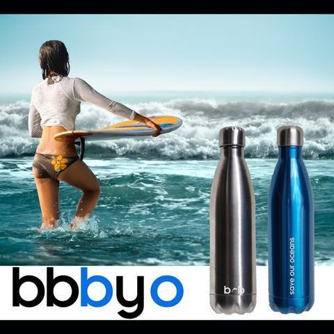 BBBYO Stainless Steel Thermal Drink Bottle + Carry Cover Ice Design Insulated 500ml-Janggalay