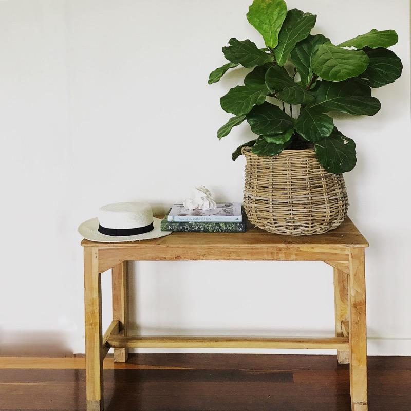 Bench Seat Hall Table Or Stool Wooden Vintage