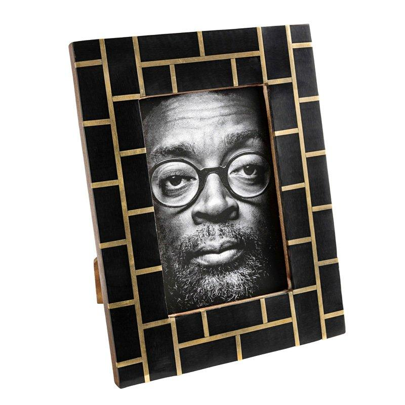 Brique Black Bone and Brass Photo Frame-Janggalay