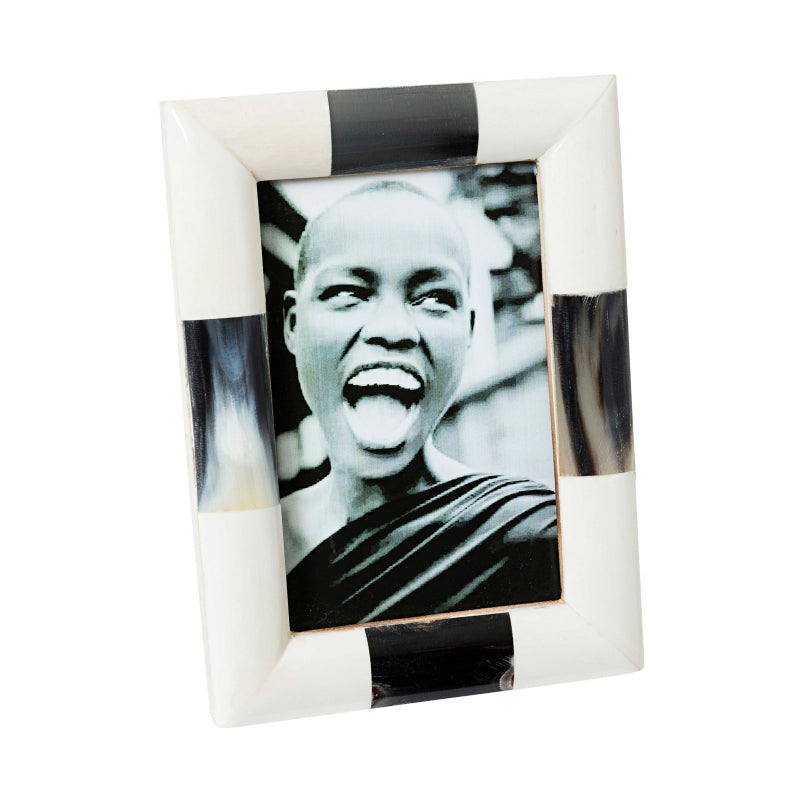 Tortue White Bone and Horn Photo Frame-Janggalay