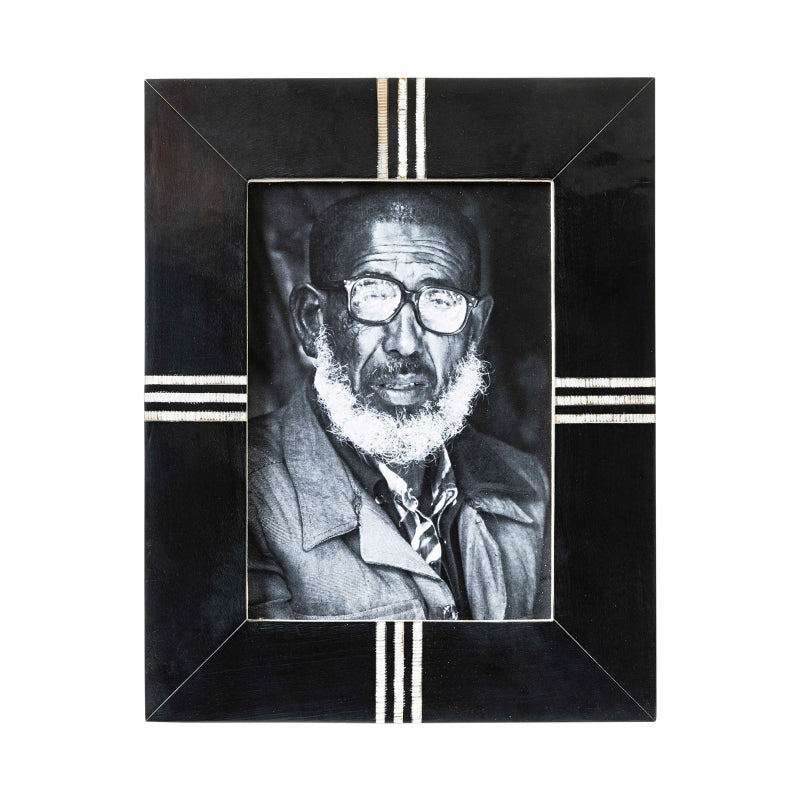 Linea Black Bone Photo Frame-Janggalay