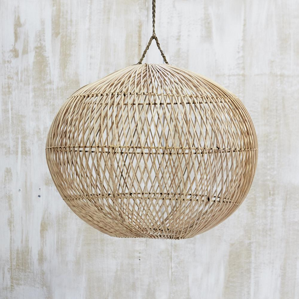 Bola Natural Wicker Light Shade Pendant-Janggalay