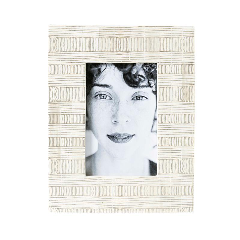 Caramelo White Bone Photo Frame-Janggalay