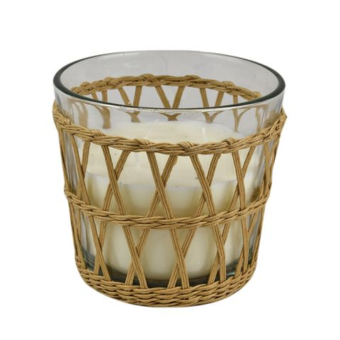 Rattan Candle in Glass