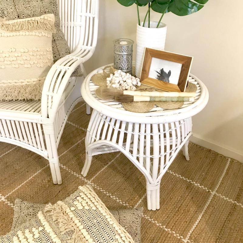 Bahama Cane Table Rattan-Janggalay