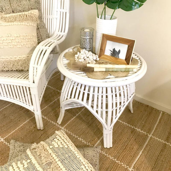 Bamboo Cane Coffee Table: Cane Table Rattan Side Table Coffee Table Tropical Coastal