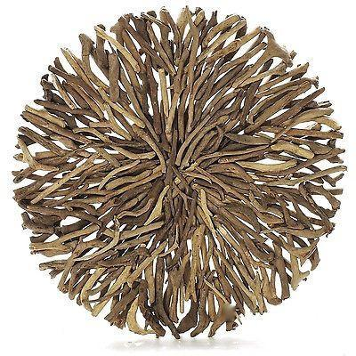 Driftwood Round Wall Hanging Art Indoor Outdoor 120cm Diameter-Janggalay