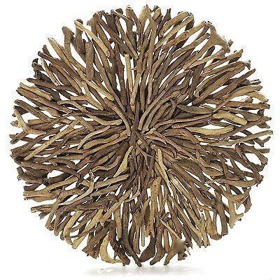 Driftwood Round Wall Hanging Art Indoor Outdoor 55cm or 80cm Diameter-Janggalay