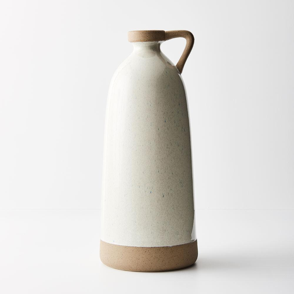 Mika Ceramic Vase White Sand - Janggalay