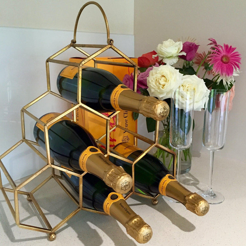 Gatsby Wine Rack Gold-Janggalay