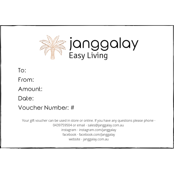 Gift Voucher-Janggalay