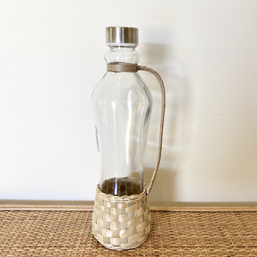 Glass Bottle with Rattan Cover - Janggalay