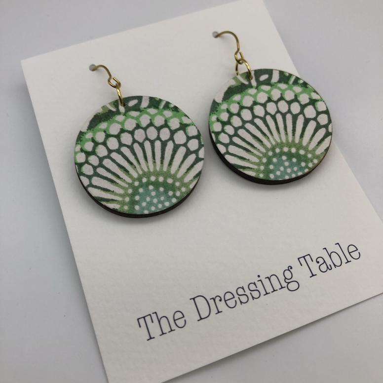Handmade Japanese Paper Drop earrings - Janggalay