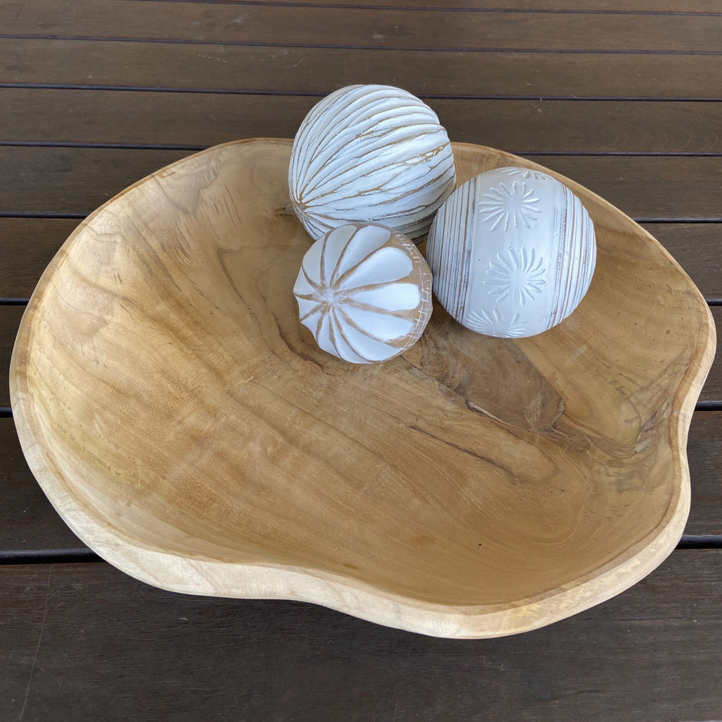 Raw Teak Bowl - Janggalay
