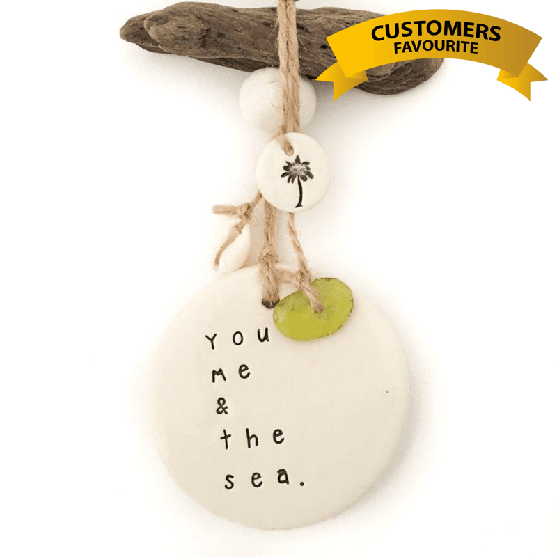 You Me and The Sea - Pottery Decor Wall Hanging-Janggalay