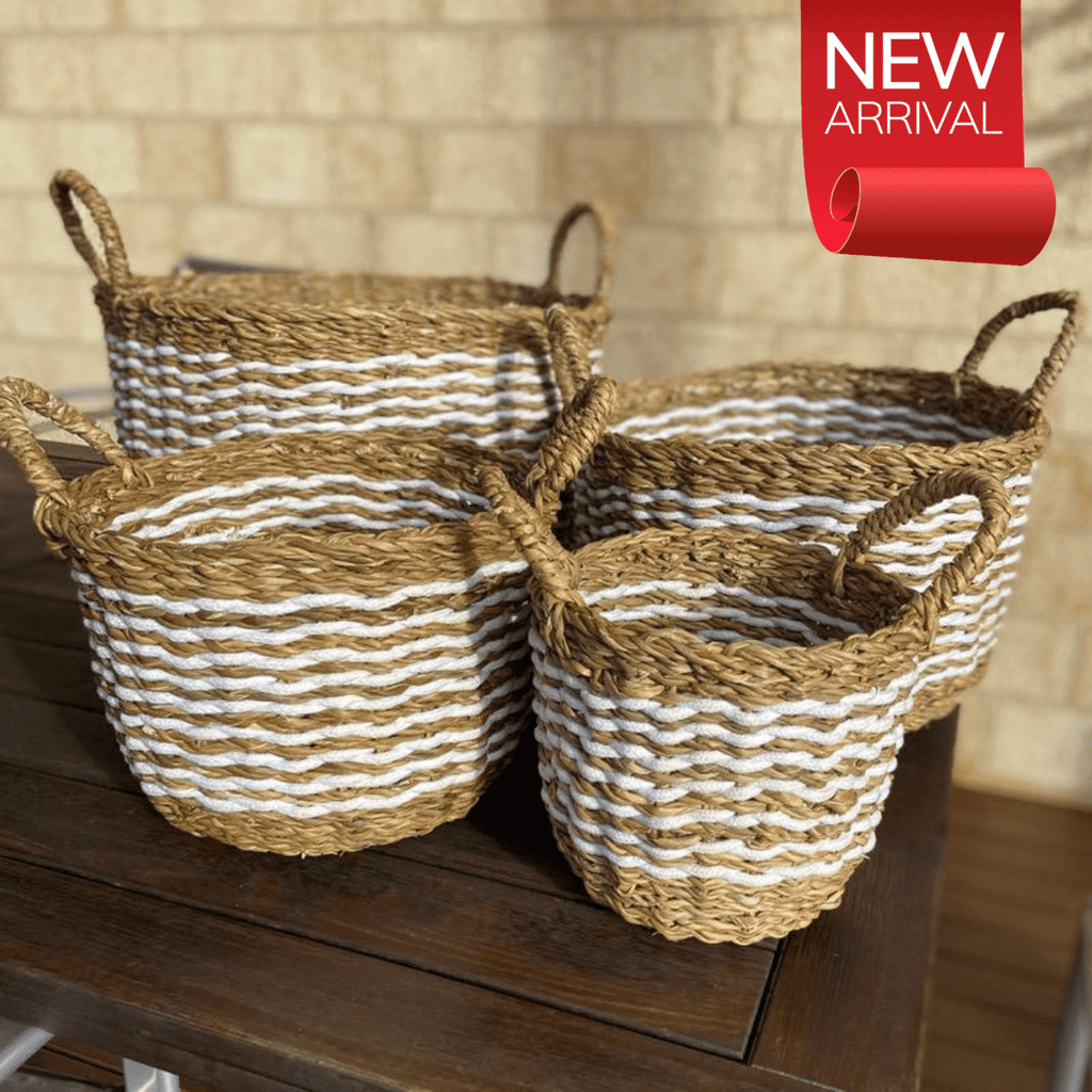 Indo Seagrass Baskets Set of 4