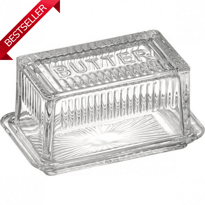 Traditional Glass Butter Dish