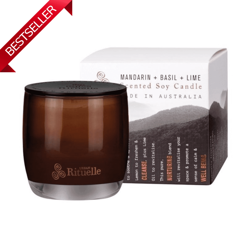Mandarin Basil and Lime Urban Rituelle Scented Soy Candle Small