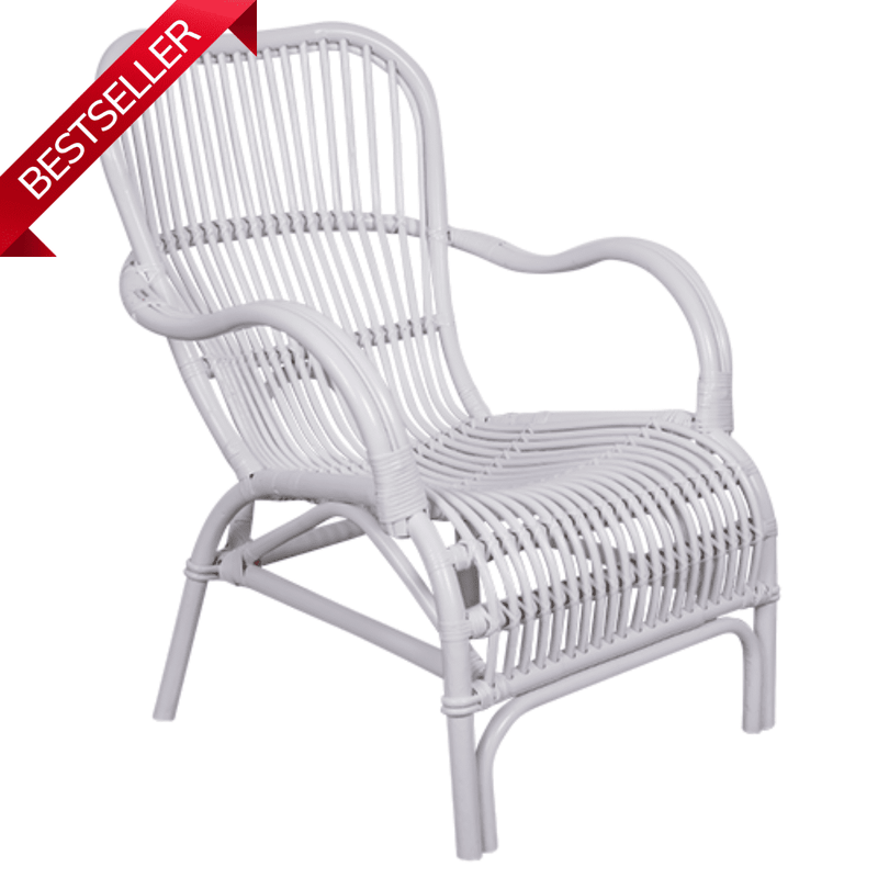 Brunswick Cane Chair White-Janggalay