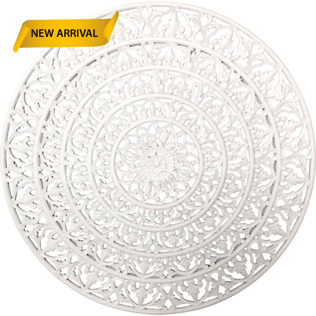 Milana Mandala Wall Art White