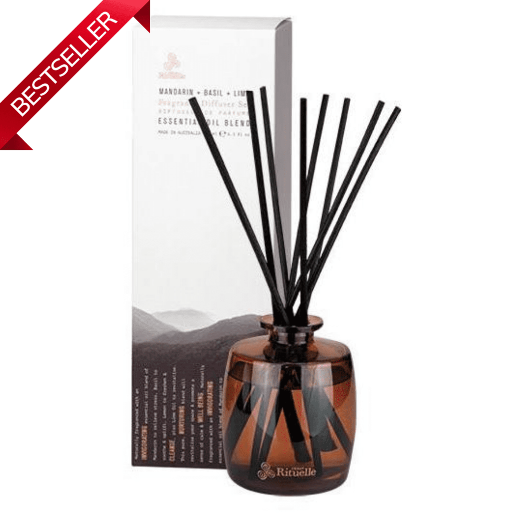 Mandarin Basil & Lime Urban Rituelle Natural Diffuser Set-Janggalay