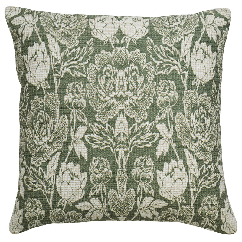 Indira Green Quilted Cushion 60cm