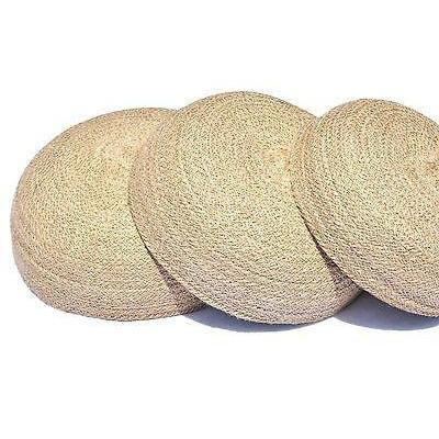 Jute Round Basket Bowl Bread Storage Fruit Serving Set of 3 Natural Handwoven-Janggalay