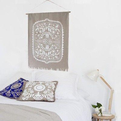 Linen Wall Hanging Wall Art Silk Screen Print-Janggalay