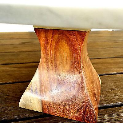 Marble Cake Stand Square Wooden Base Display Wedding Gift Decor Candle Holder-Janggalay