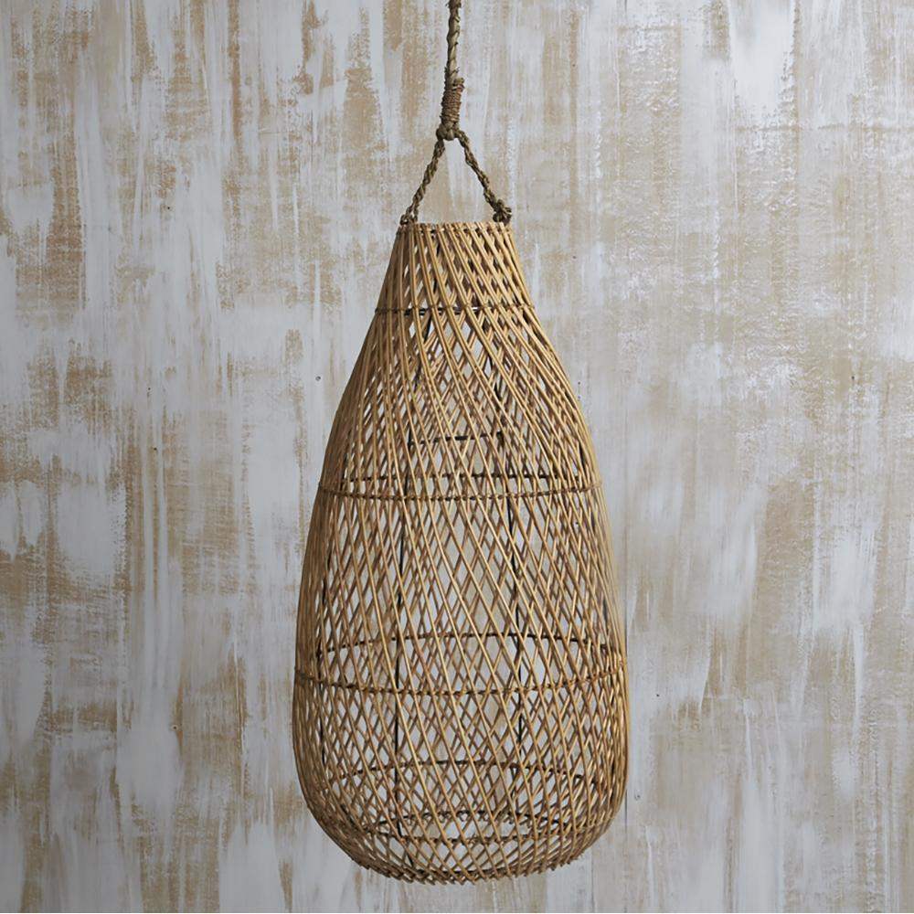 Airmata Natural Wicker Light Shade Pendant-Janggalay