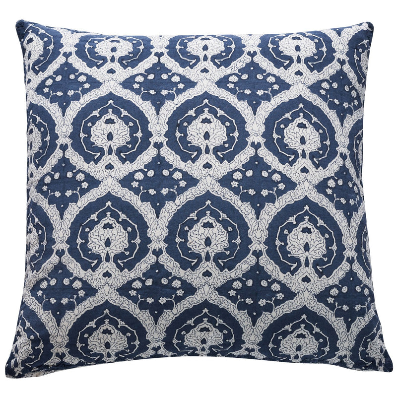 Milieu Seamist Navy and White Cushion