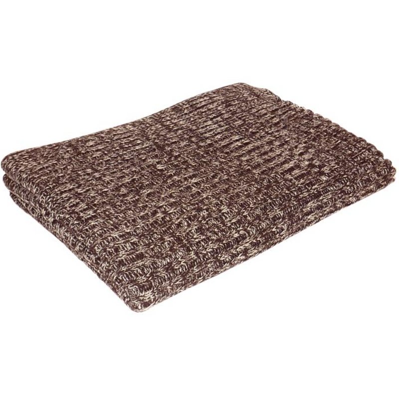 Mocha Chocolate Cotton Knitted Throw Blanket-Janggalay