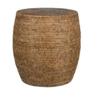 Rattan Drum Stool or Side Table-Janggalay
