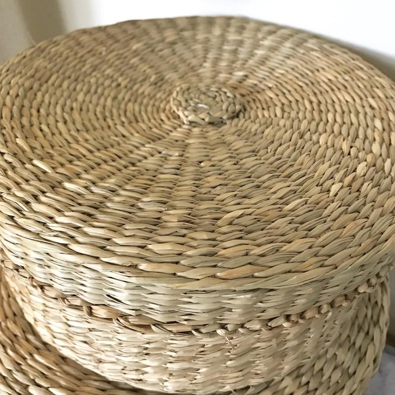 Round Seagrass Storage Baskets Set of 3-Janggalay