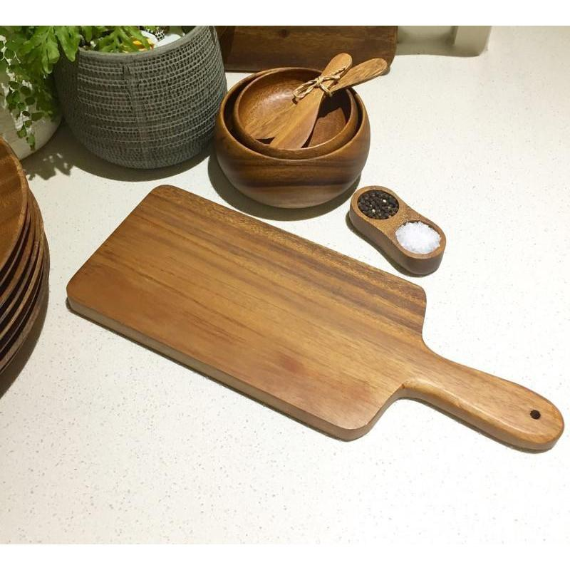 Acacia Wood Chopping Board Serving Paddle-Janggalay