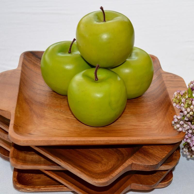 Square Wooden Plate Acacia Platter Serving Display Gift Boxed-Janggalay