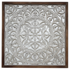 Wall Hanging White Mandala with Mirror Background-Janggalay